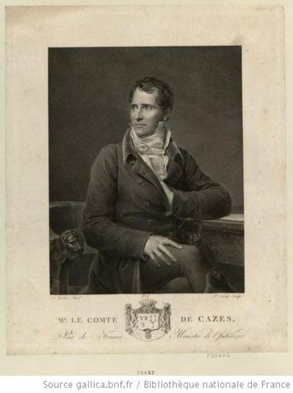 Elie Louis DECAZES (1780 -1860), comte DECAZES (1816) et 1er duc de GLÜCKSBIERG (1818) Second et dernier Grand Commandeur du Suprême Conseil des Îles Françaises d'Amérique, en Exil (1818 -1821) Ancien Grand Commandeur du Suprême Conseil pour la France (1838 – 1860)