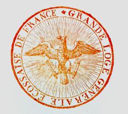 Sceau de la Grande Loge Générale Écossaise de France (1804)